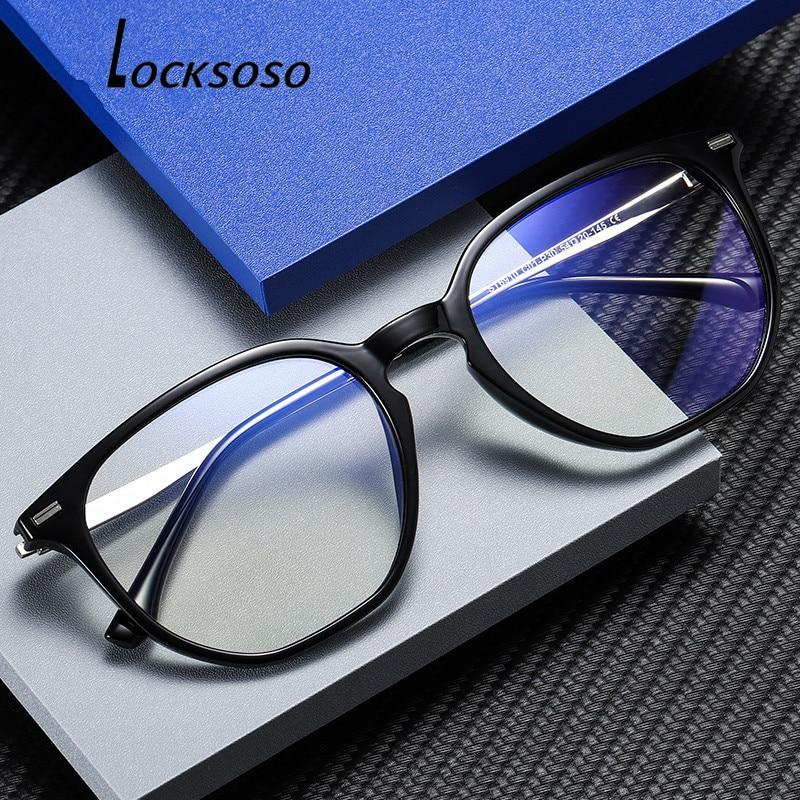 LOCKSOSO Anti Blue Light Glasses For Women Men Radiation Ray Blocking Blocker Computer Gaming Glass Lentes Anti Luz Azul Goggles