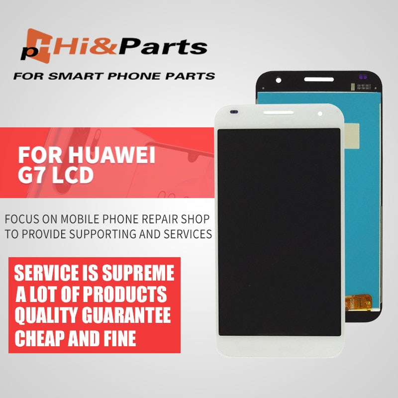 Blanco/negro para Huawei Ascend G7 G7-L01 G7-L03 pantalla LCD + MONTAJE DE digitalizador con pantalla táctil para huawei g7