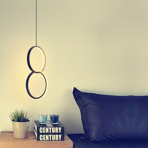 Modern Ring Pendant Lights Minimalist creativity personality long line hanging lamp LED Pendant Lamps for Bedroom Living Room