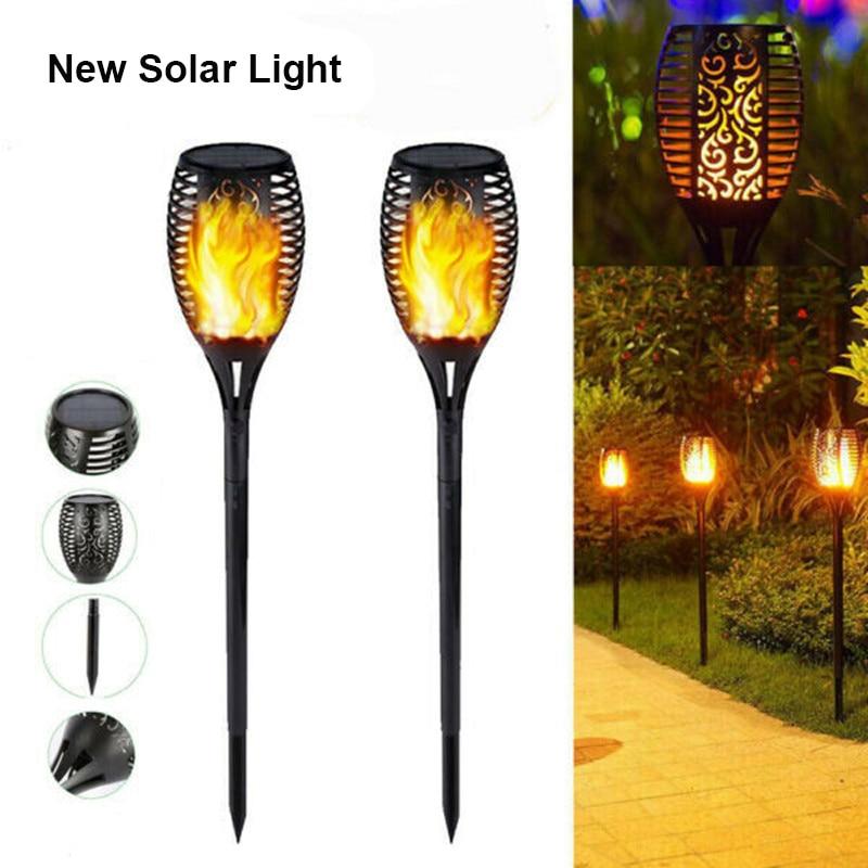 diodo emissor de luz solar chama tocha lampada lampadas controle luz ip65 a prova