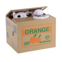 Yenilik kedi çalmak paraları kumbara bozuk para kutusu