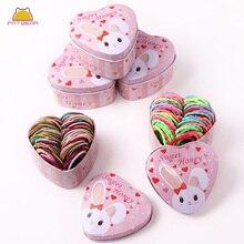 50 Pcs/lot Colorful Elastic Hair Band For Girls Kids Baby Hair Rope Toddler Lovely Sweet Korean Hair Tie Kawaii Kids Cute