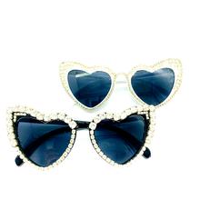 Zaolihu coração shades feminino óculos de sol preto branco moldura diamante óculos de cristal luxo glasse uv400 bonito