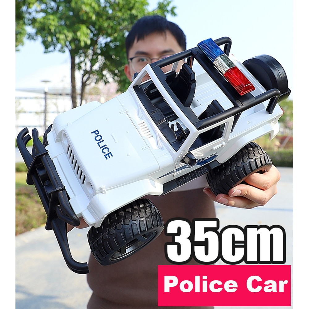 1/12 Scale Big RC Jeep on radio control Police truck Fire Rescue Truck 4WD Electric rc drift buggy cars toys for child kids boy enlarge