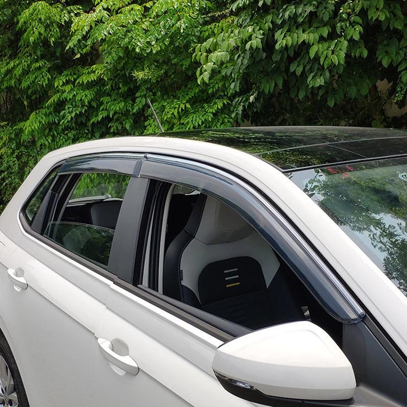 Pare-Vent pare-Vent/pluie/soleil/pare-Vent   Accessoires de stylisme de voiture en plastique pour Volkswagen Polo Mk6 2018-2020
