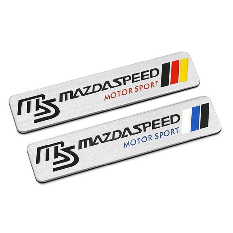 Estilo de coche 1 Uds aluminio MS pegatinas insignia emblema accesorios para Mazda 6 2 5 3 Atenza Axela CX9 RX7 MX5 MX3 CX5 CX3 CX4 CX7