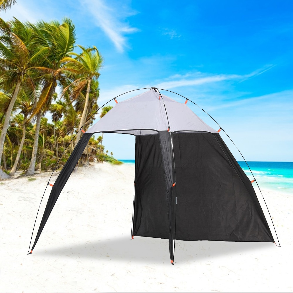 waterproof sunscreen tent multi functional canopy waterproof tent camping tent set beach shade cloth outdoor supplies Outdoors Canopy Beach Shelter Sun Shade Tent for Fishing Camping Travel Sun Shade Tent For Fishing Camping Travel Dropship
