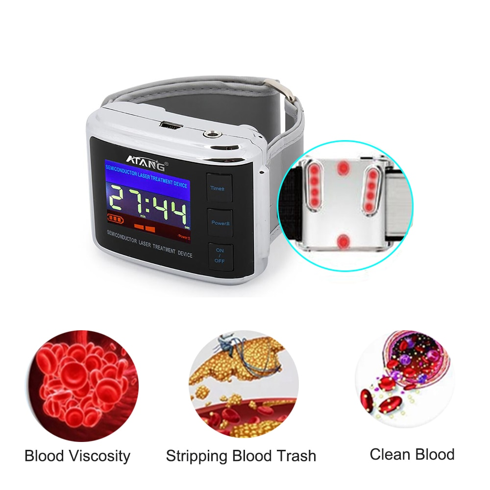 Laser Therapy Physiotherapy Laser Therapy Watch Diabetic High Blood Pressure, High Blood Sugar, Hyperlipidemia,Cholesterol