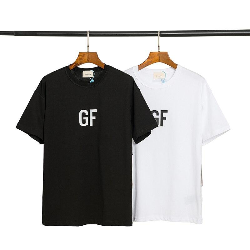 2020 nueva sexta colección de colaboración de niebla GF camiseta impresa hombres mujeres parejas camisetas de algodón de gran tamaño hombres