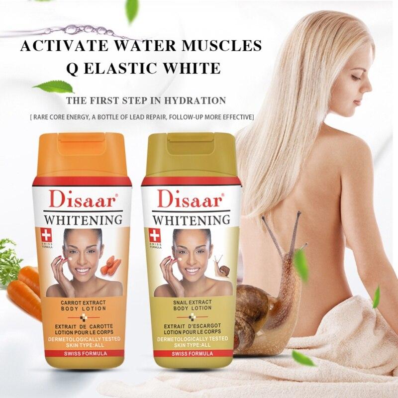 Crema de loción corporal de blanqueamiento potente Natural, blanqueador de piel oscura, hidratante, blanqueador de piel profunda, cuidado del cuerpo (extracto de zanahoria)