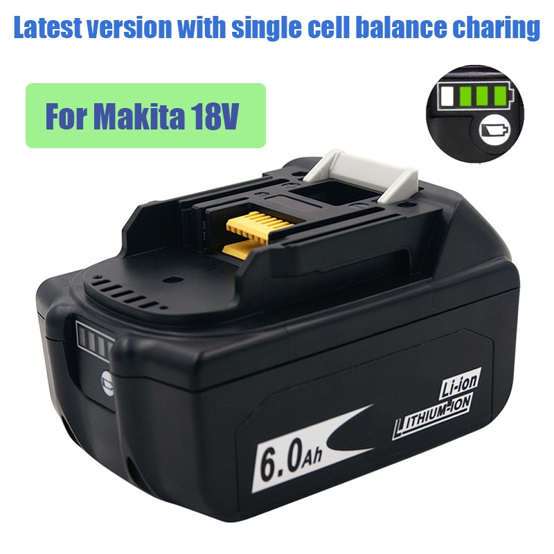 Rechargeable Lithium Battery 1860 18V for Makita Power Tool BL1815 1830 1840 1850 LXT400 Batteries Spare Lipo Pack electric Dril