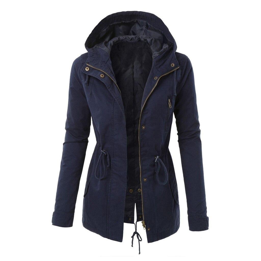 Ropa abrigo de mujer chaqueta de invierno con cremallera estampada chaqueta de invierno cálida con capucha bolsillo Retro de gran tamaño # g2