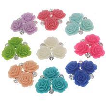 Strass Corsages Mariage avec résine fleur bricolage artisanat accessoires fait à la main décoration pour Mariage mariée broche 10 pcs/lot