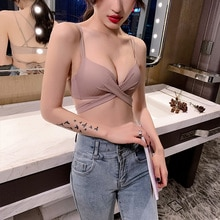Women's Underwear Wireless Small Chest Charm of Lotus Pavilion Sexy Charming Back Strap Glossy Top S