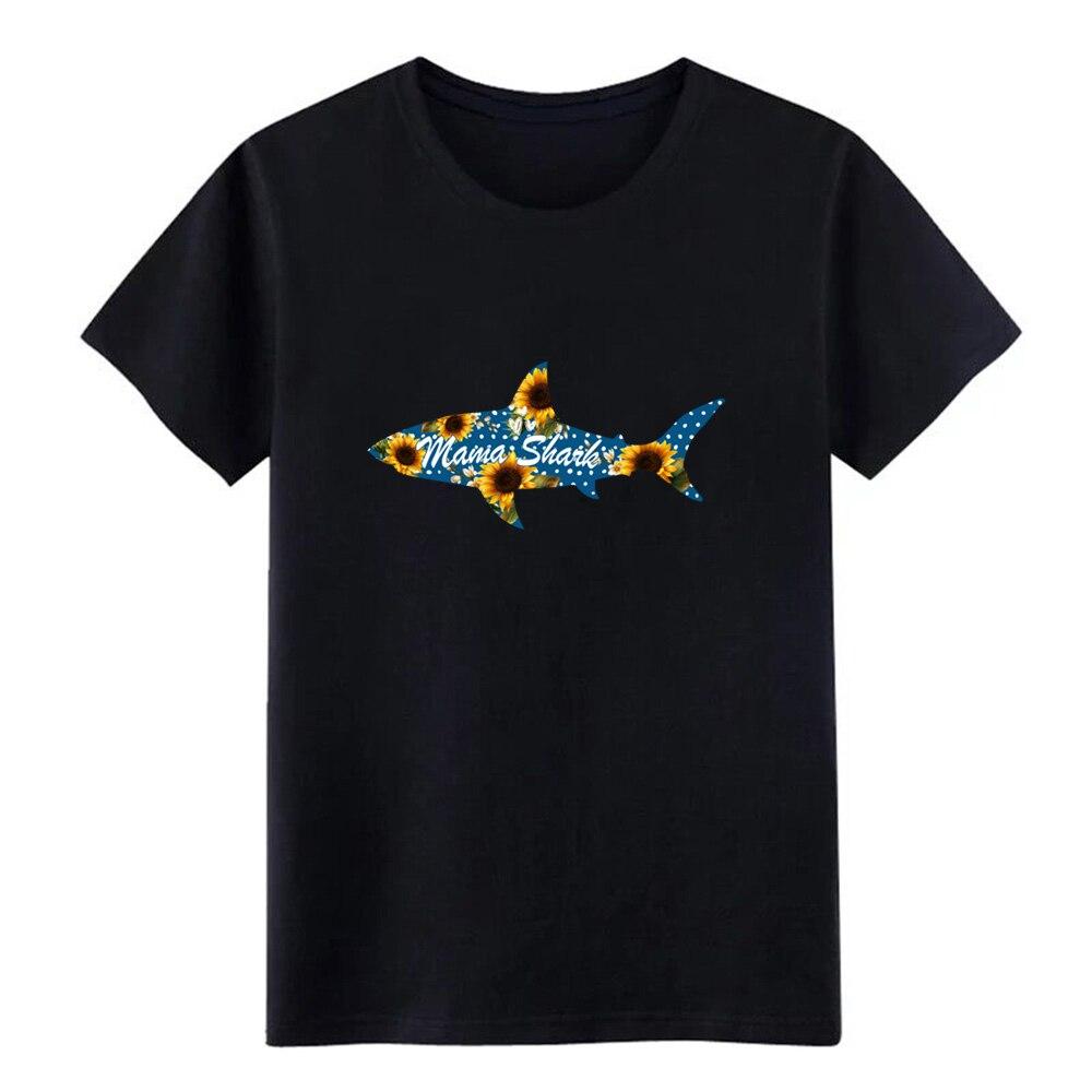 Camiseta de punto para hombre de mama shark, camiseta S-XXXL Vintage informal antiarrugas con imágenes de verano