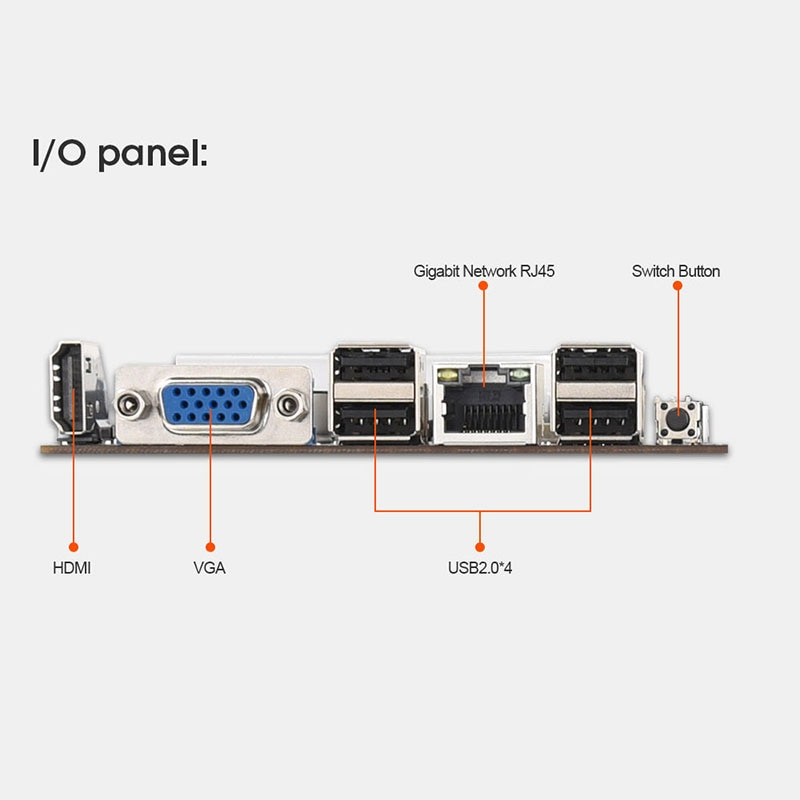 Mining Motherboard Onboard CPU HM77 Chipset VGA  8-GPU Bitcoin Motherboards  with 64GB MSATA SSD DDR3 4GB 1600MHZ RAM SET