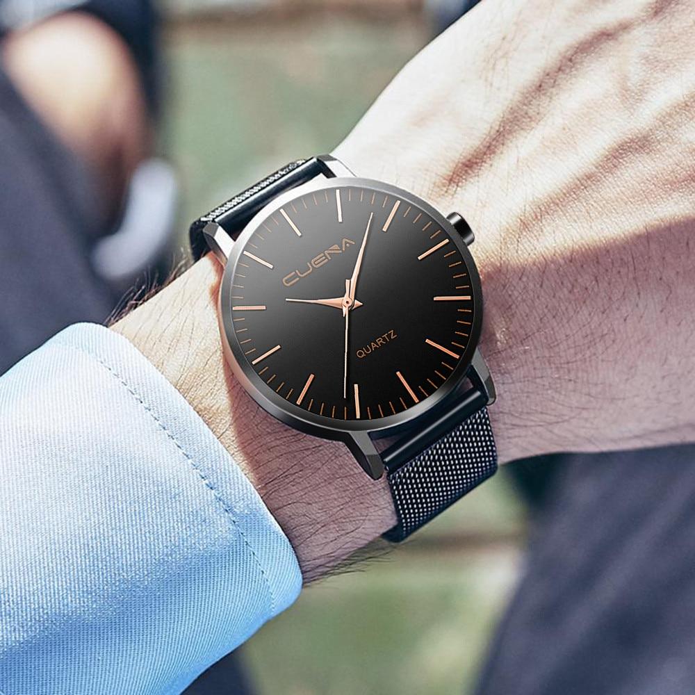 2020 Luxury Brand Men Watch Classic Steel Watches Mens Retro Hombre Buckle Relojes Para Hombre Round Zegarek Meski