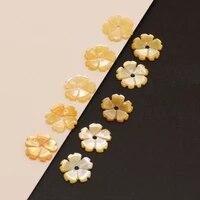 5pcs 2021new natural seawater flower shaped golden shell pendant beads crafts making diy necklace bracelet anklet jewelry8 10 12