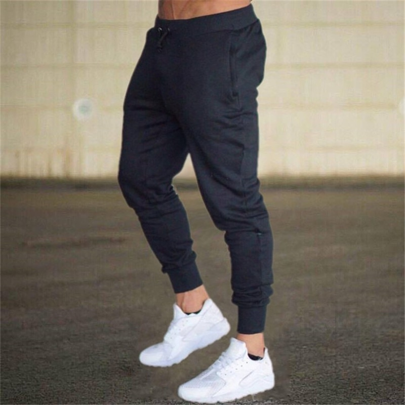 2021 Casual Pants Men Joggers Sweatpants Solid Color Trousers Fitness Sportswear Jogger Track Pant Plus Size S-3XL Summer Spring