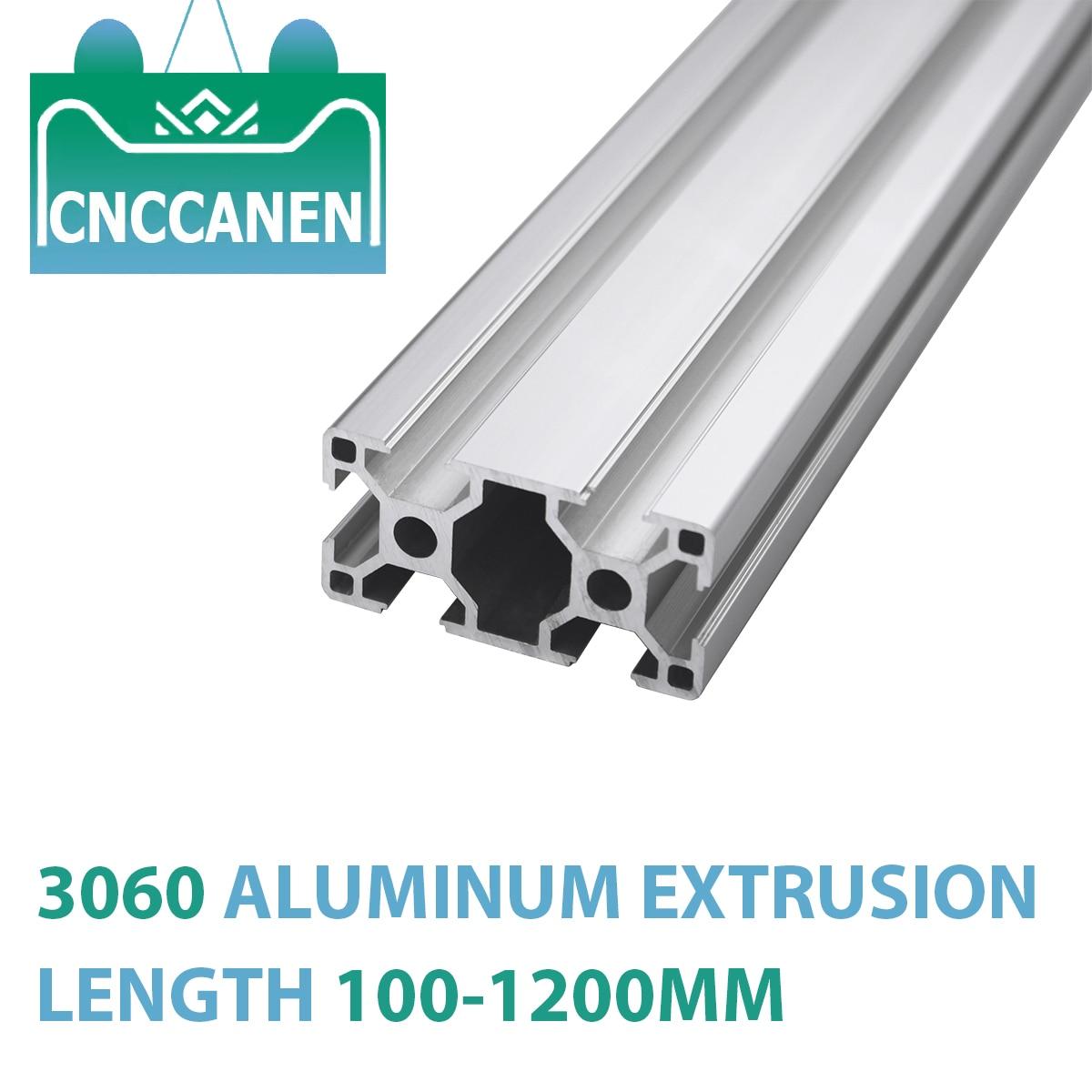 1 個 3060 アルミ異形押出 3060 100-1200 ミリメートルの長さヨーロッパ標準アルマイトリニアレールdiyのcnc 3Dプリンタ部品