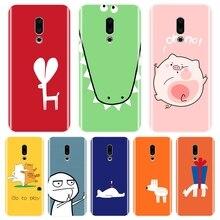 For Meizu 16th 16x 15 Lite 16 Plus Case Silicone Soft Pink Pig Yellow Cat Back Cover For Meizu Pro 6 7 Plus U10 U20 Phone Case