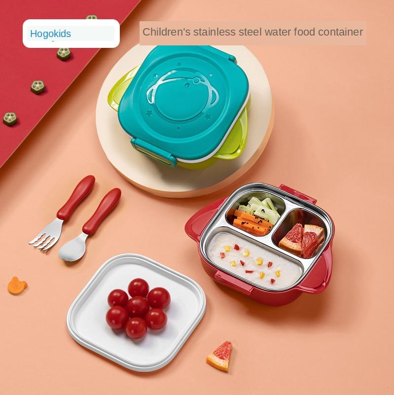 Посуда детская из нержавеющей стали 304, набор тарелок для кормления детей, брендовая детская тарелка с теплоизоляцией и охлаждением
