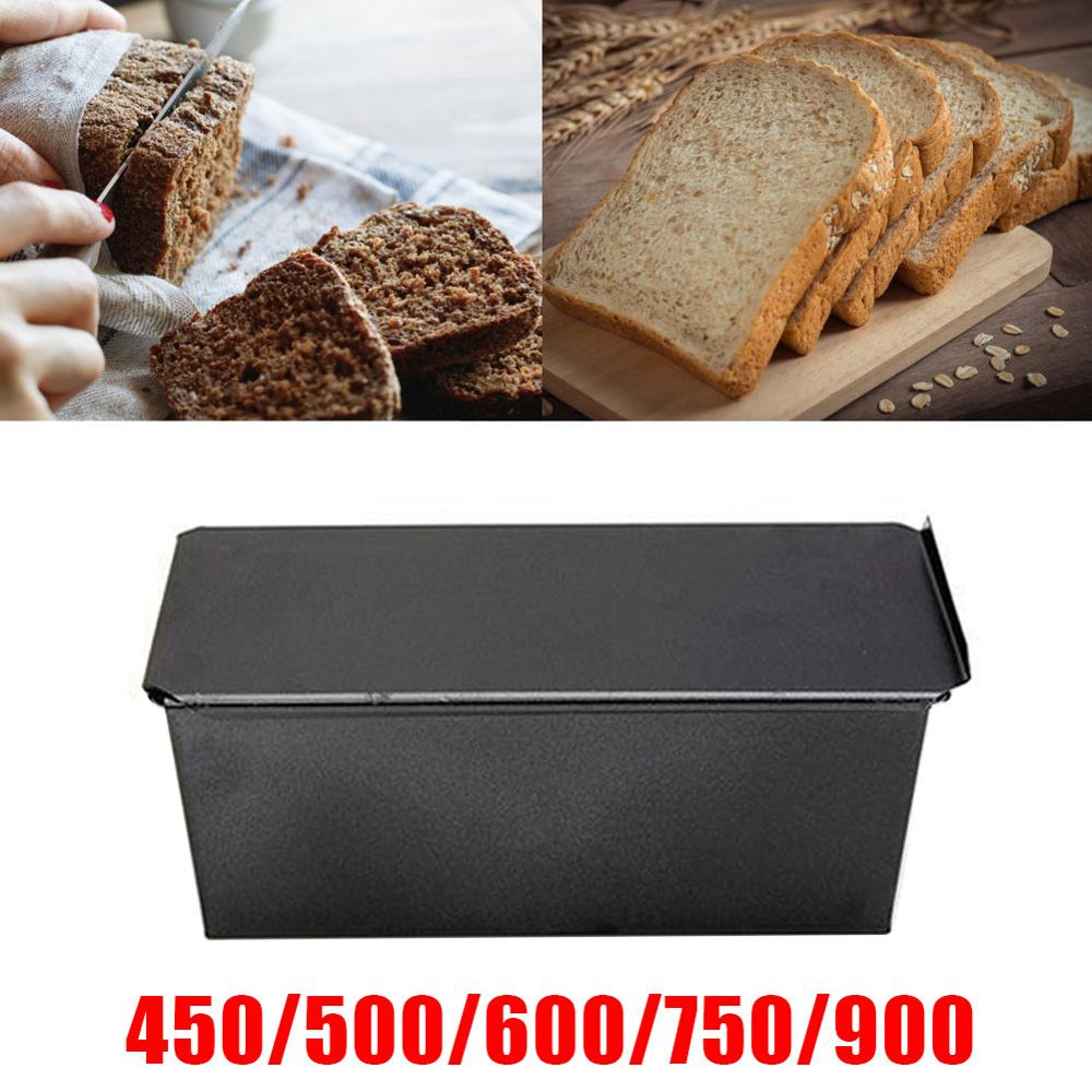 Pão antiaderente pão pão de carne pan com tampa ferro brinde bolo molde cozinha bakeware 450g 500g 600g 750g 900g 1000g fontes de cozimento