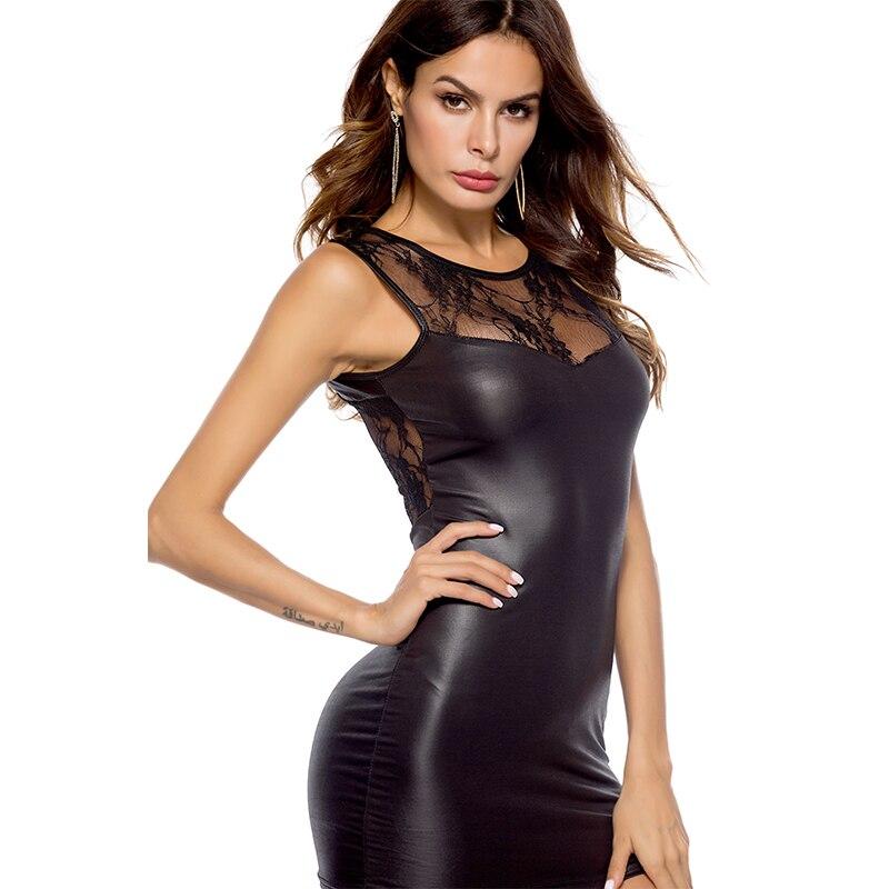 Minivestidos transparentes de encaje con espalda descubierta párr mujer de ropa de...
