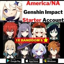 Genshin Impact compte amérique/Europe/asie Genshin Impact L7 KEQING DILUC GANYU JEAN VENTI QIQI MONA démarreur compte