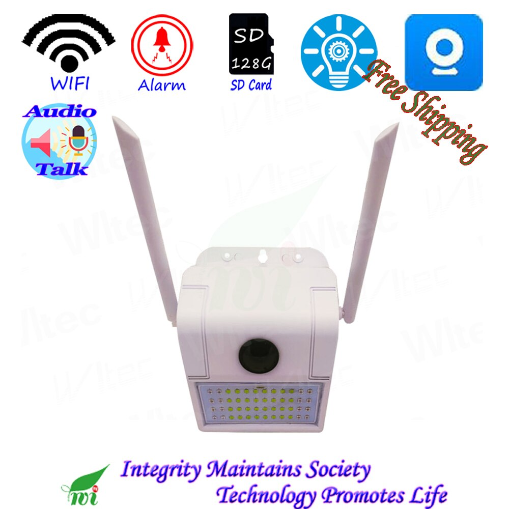 Lámpara de pared Cámara Wifi 1080P cámara de movimiento alarma a prueba de agua habla dual LED blanco y LED IR