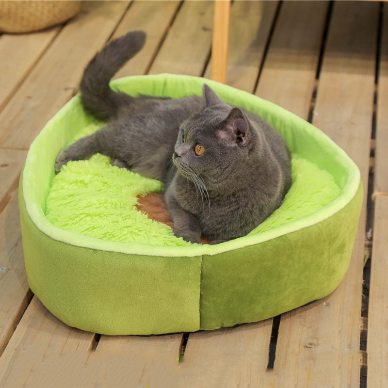 Almohadas de felpa de aguacate, juguetes para Gato, cojín de nido de perro, cama de 50x40cm para perros, nido de gatos, cama de invierno cálida para dormir, alfombrilla cama para mascotas, casa