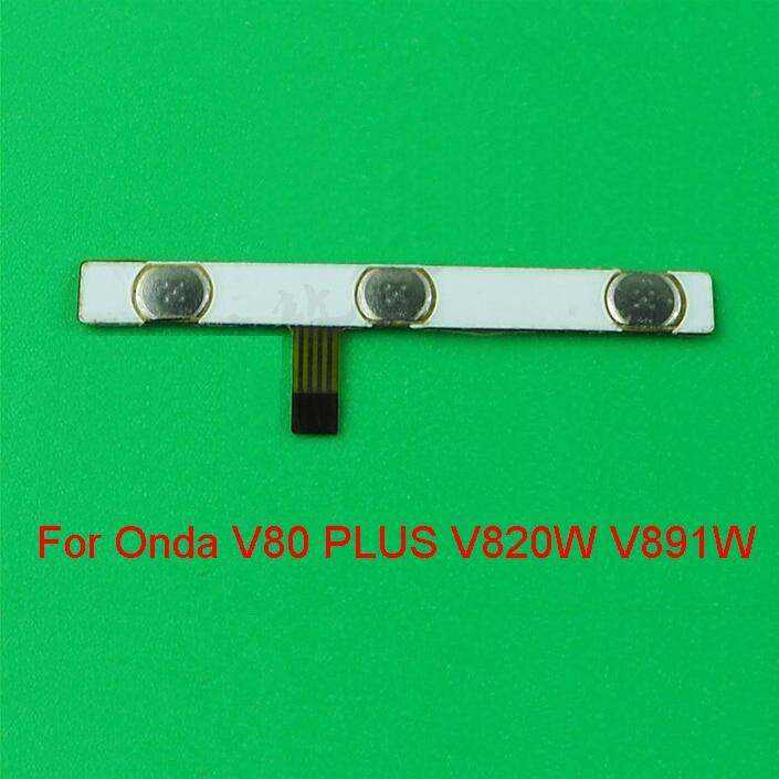 """Interruptor original fora do cabo flexível do botão do volume de energia para onda v80 plus v820w v891w quad-core 8.0 """"cabo condutor do cabo flexível"""