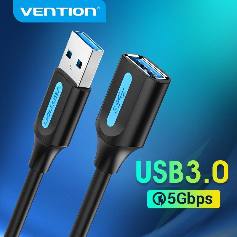 Vention-Cable de extensión USB 3,0 2,0, extensor para Smart TV, SSD, Xbox...