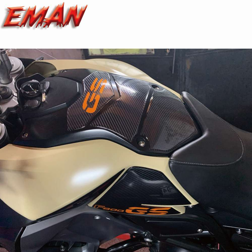 new motorcycle fuel tank side box protection sticker anti scratch decorative decal for bmw f850gs adv f 850 adv Carbon Fiber Motorcycle Fuel Tank Protection Paste Stickers Anti Slip Sticker for BMW F800GS / adv F 800GS For BMW F800GS/ADV