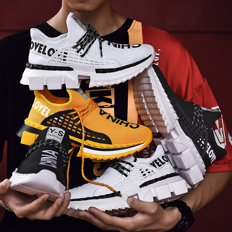 Homens marca de Sapatos Casuais Calçados Masculinos Respirável Sapatos de Caminhada Ao Ar Livre Homem Tênis Sapato Masculino Dropshipping Plus Size 47