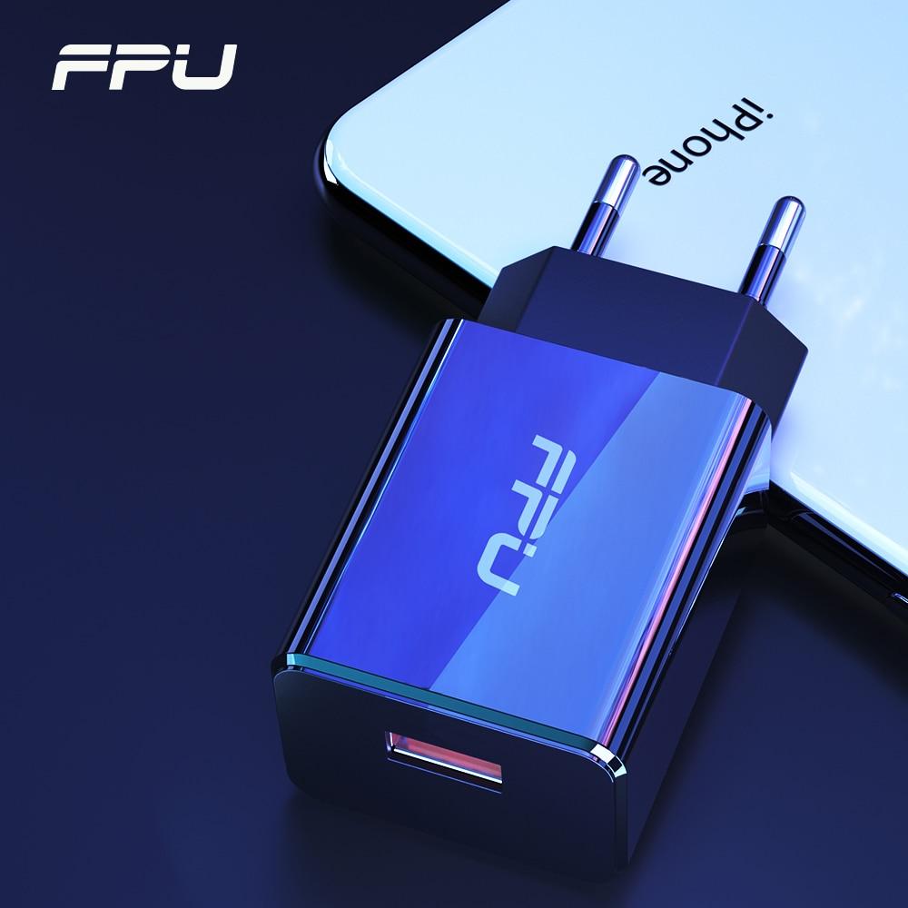 Cargador USB FPU de carga rápida 3,0 para iPhone iPad QC3.0 QC Adaptador europeo para cargador de teléfono móvil Samsung S10 Xiaomi Mi