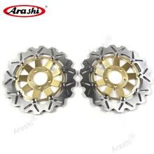 Arashi 1 Par Z1000 2003-2006 CNC Freio Dianteiro Freio A Disco Rotores Para KAWASAKI Z 1000 2003 2004 2005 2006 ZX6R Z750 ZZR600 ZR7 CTR