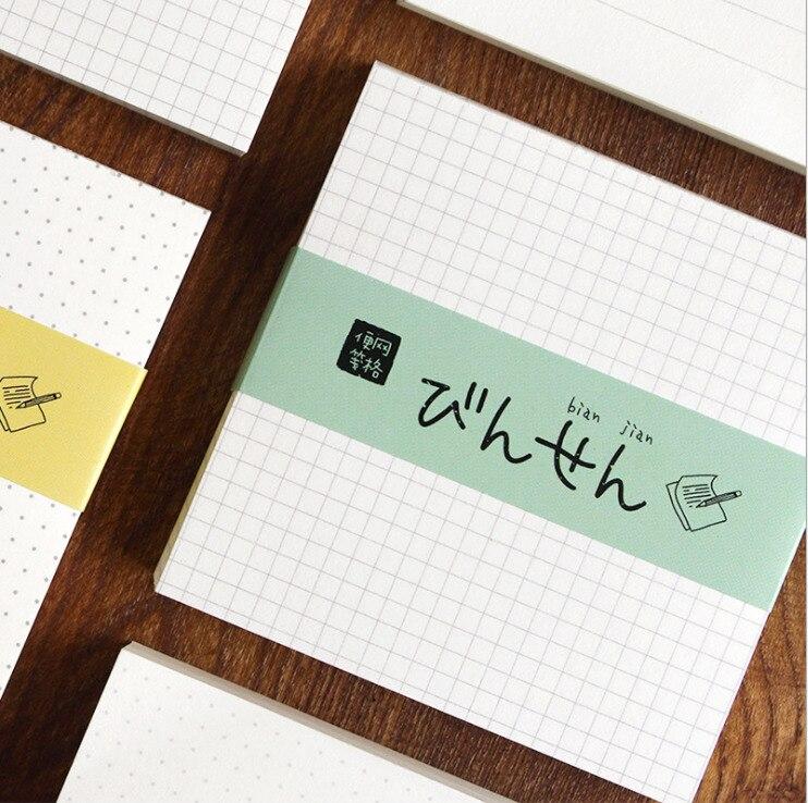 100 hojas estilo conciso notas Nota de papel Pad Mini cuaderno Oficina escuela suministros papelería Linda