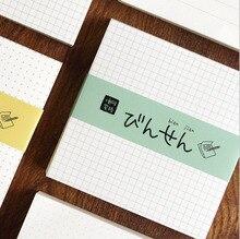 100 feuilles Style concis Notes papier bloc-Notes Mini cahier bureau fournitures scolaires mignon stationnaire