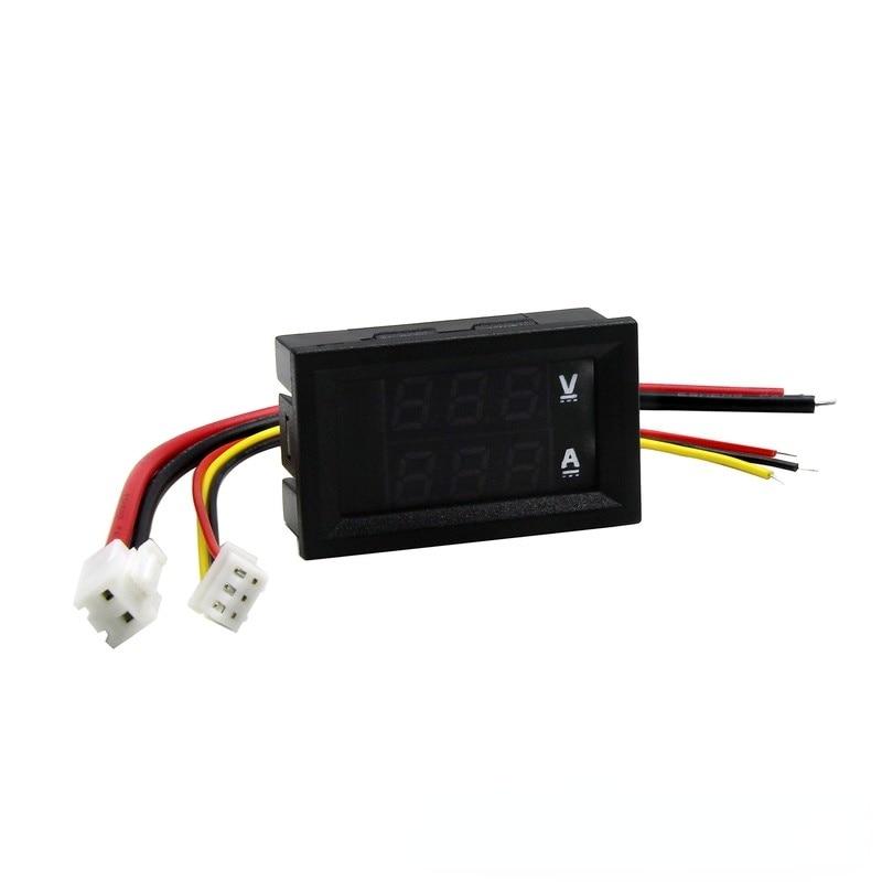 Цифровой вольтметр, амперметр с двойным дисплеем, цифровой измеритель тока и вольтметра, Цифровой Измеритель постоянного тока 0-100 В, 1 А, 10 А, ...