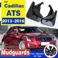 4pcs set car front rear mud flaps splash guard fender mudguards for cadillac ats 2013 2014 2015 2016 mud flap