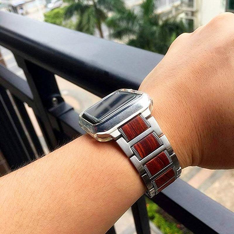 Natural Wooden Bracelet Strap for Apple Watch SE Series 6 Series 5 4 3 2 1 44mm 40mm 38mm 42mm Band For Apple Watch 6 iWatch SE enlarge