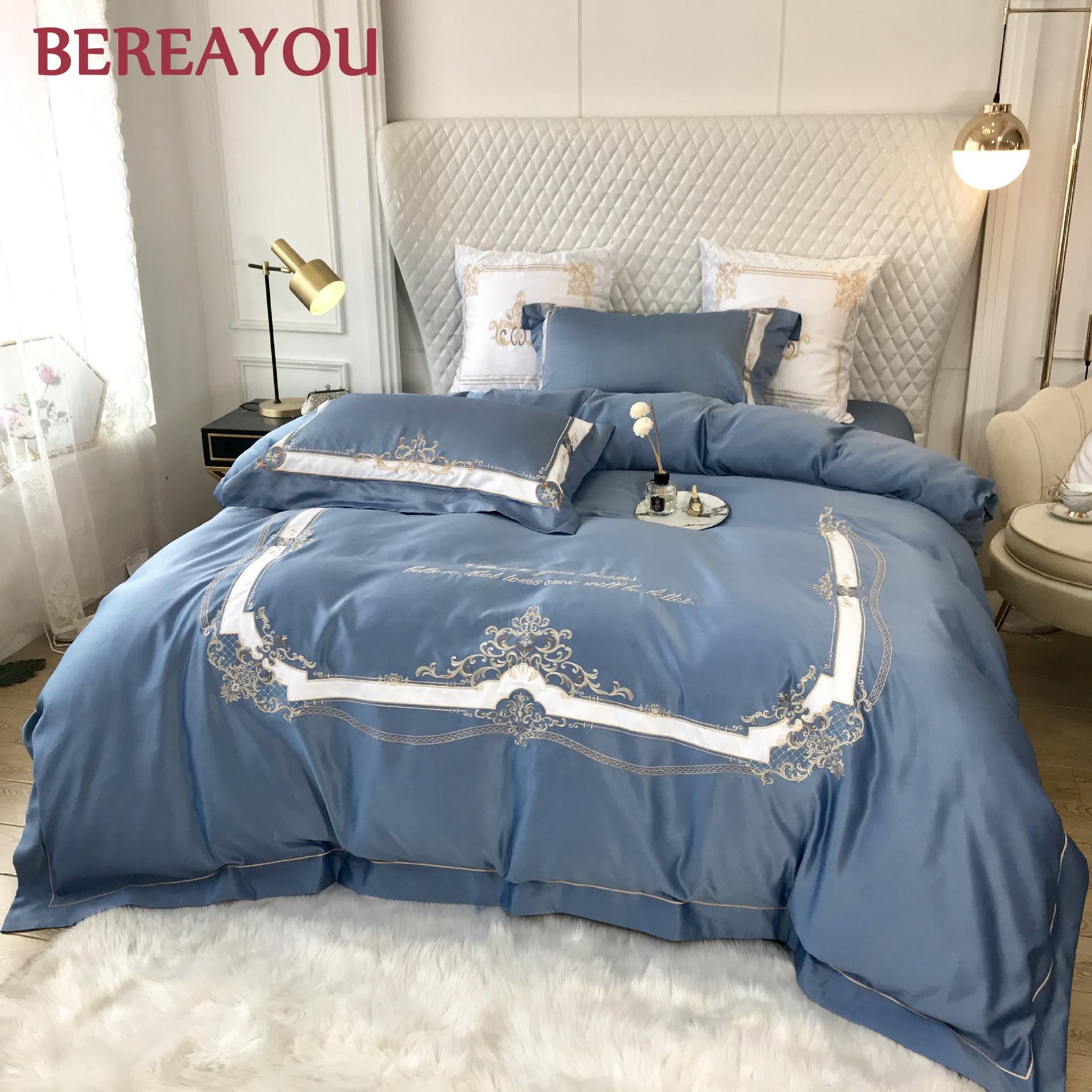 Juegos de cama de algodón, juego de cama de Hotel de satén de lujo, ropa de cama de boda roja, funda nórdica de princesa, tamaño King, Sábana plana, conjunto literie