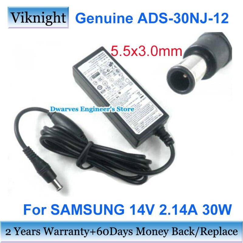 Оригинальное 14V 2.14A 30W Импульсный адаптер зарядное устройство для Samsung S22A350B S22B100N BX2350 S23C570H ЖК-монитор адаптер питания