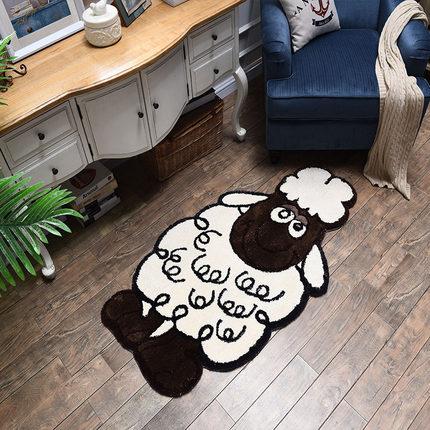 Nordic Tatami Thick Sleeping Cartoon Lamb Carpet Children Lovely Room Bedroom Decoration Non-Slip Floor Mat