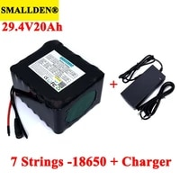 24v 20ah 7s5p 18650 rechargeable battery pack 29 4v electric bicycle moped li ion batteries with 15a bms protection charger