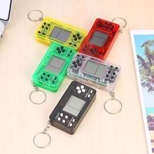 مفتاح سلسلة لعبة فيديو لاعب الرجعية الحنين تتريس الكلاسيكية الرجعية الضغط يخفف المزاج المحمولة المحمولة الألعاب وحدة التحكم