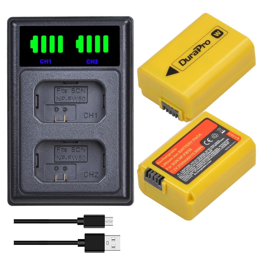 Batería de iones de litio NP-FW50 NP FW50 + cargador LED para...