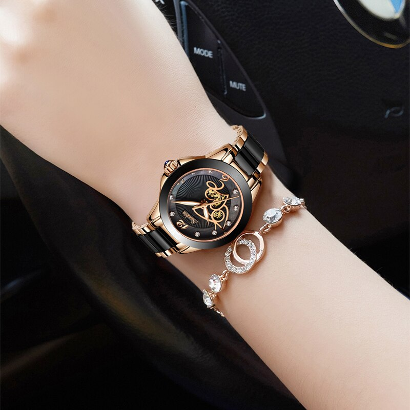 SUNKTA New Rose Gold Watch Women Quartz Watches Ladies Top Brand Luxury Female Wrist Watch Girl Clock Wife gift Zegarek Damski enlarge