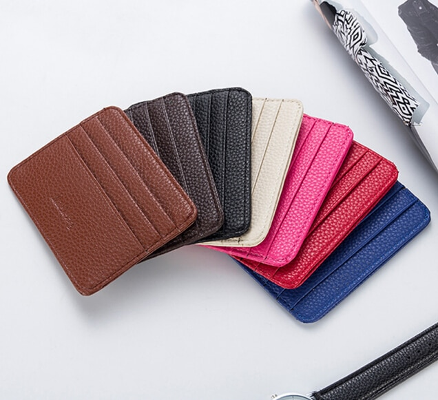 Mens Leather Card Slim Bank Credit Card ID Card Holder Case Bag Wallet Holder